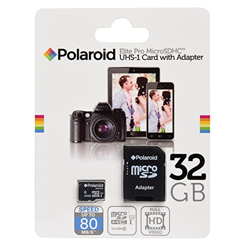 32GB Micro SD Card for Smart Phones (Samsung Galaxy S7,S6,S5,S4, Note 7, LG, Motorola, Sony, BLU, Moto, HTC) and Tablets - High speed 80MB/s Class 10 MicroSDHC 32 GB flash memory by POLAROID (Micro Sd Card Gps compare prices)