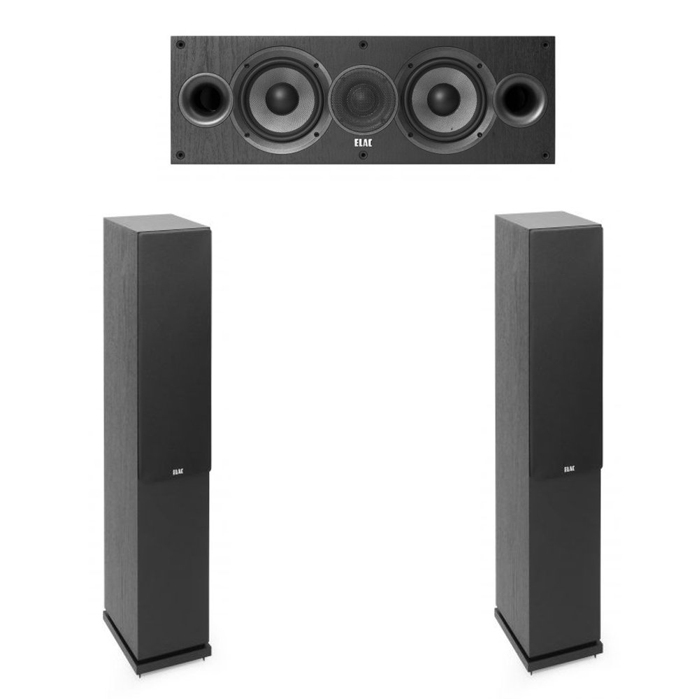 Elac Debut 2.0-3.0 System with 2 F5.2 Floorstanding Speakers, 1 C5.2 Center Speaker by Elac