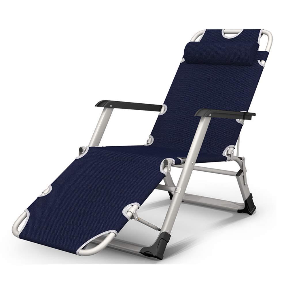 A 67x18x97cm HPLL Folding Reclining Chair, Breathable Folding Sunshade Garden Recliner Balcony Leisure Lazy Beach Garden Office Backrest Portable Chair, 3 Gear Adjustment Kitchen Folding Chair