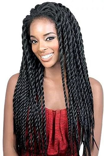 Search : Synthetic Braided Lace Front Wigs African American Twist Braids Wigs for Black Women Natural Color (22 Inch)