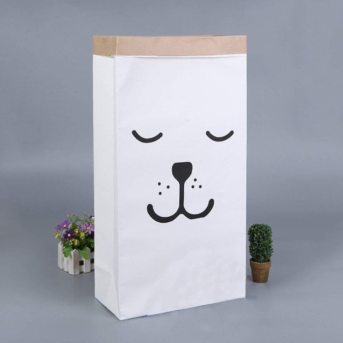 James tyle26/Caja Saco de Papel Papel Kraft Bolsa de Regalo Bolsa Cubo de Basura Bolsa de Papel Paper Bag habitaci/ón de los Ni/ños Juguete Blanco marr/ón