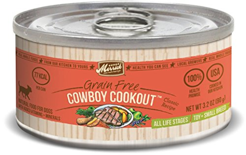 Merrick Classic Grain Free Cowboy Cookout  Small Breed Wet Dog Food, 3.2 oz, Case of 24 Cans