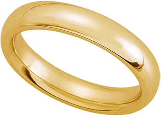 Black Bow Jewelry 2mm Light Domed Comfort Fit Wedding Band in 10k Yellow Gold