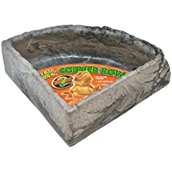 Zoo Med Reptile Rock Corner Water Dish, Large - Assorted colors