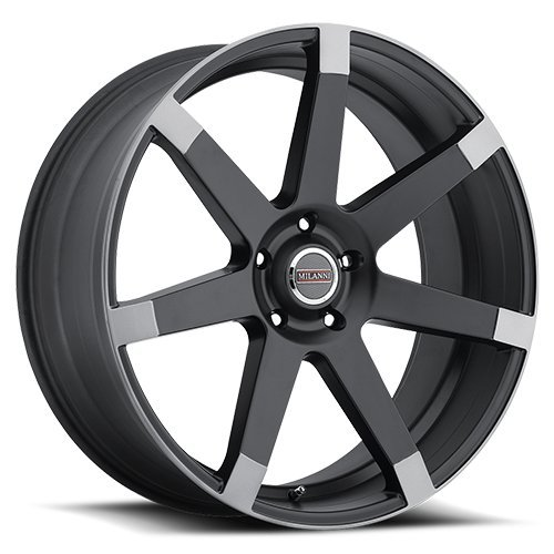 Anthracite Finish - Milanni 9042 Sultan Wheel with Matte Black w/Anthracite Spoke Ends Finish (22x9.5