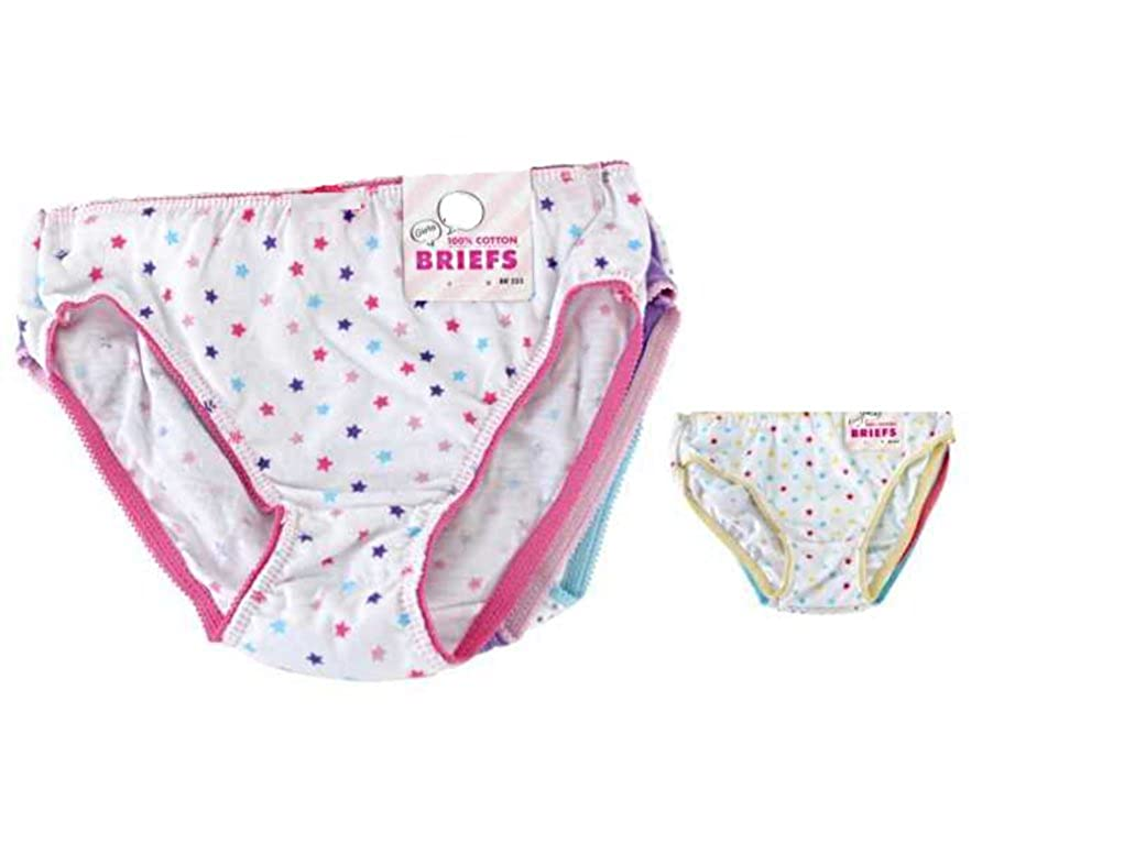 Girls Super Soft Colourful Design Cotton Briefs Knickers Set 7 Pair Multi Pack