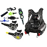 Mares Scuba Diving Computer, Regulator Set, Octo Complete Plus Package w/ BCD