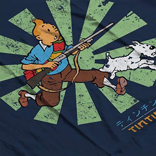 Men's Tintin 7 white Cloud Jacket Japanese Retro Varsity City Navy Ew4xqq5anX