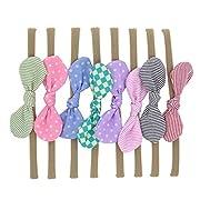 Lebo Baby Girl Headbands with Bows Baby Nylon Headbands 8pcs/lot
