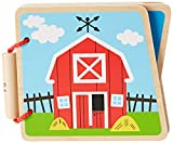 Hape E0030 At the Farm Display Wooden Book