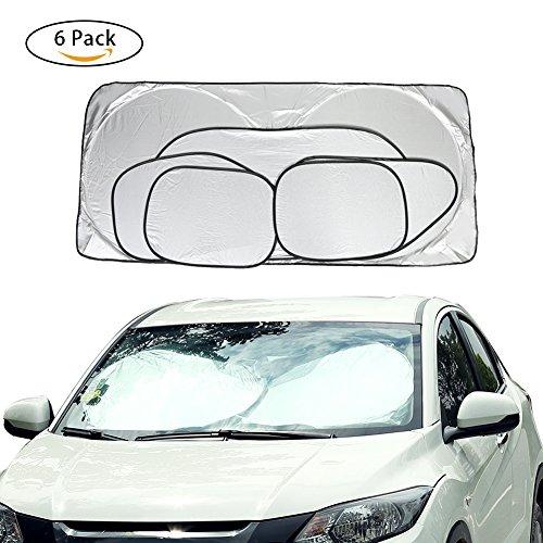 Cosy Zone Car Windshield Sun Shade Set of 6 Folding Car Window Shades UV Protector Keep Vehicle Cool