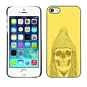 "For Apple iPhone 5 / 5S , S-type Amarillo Punk Hippie Skull"" - Arte & diseño plástico duro Fundas Cover Cubre Hard Case Cover"