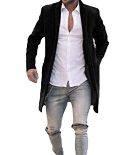 YUNY Mens Casual Slim Fit Long-Sleeve Solid Colored Turn-Down Collar Shirts AS13 M