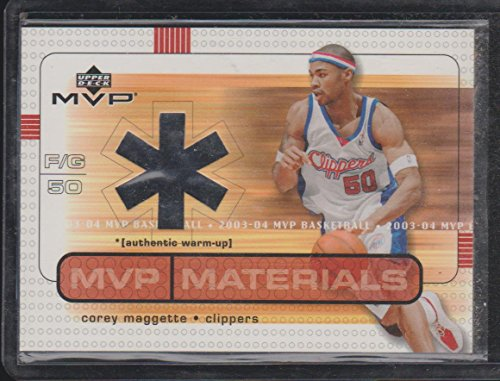 2003 Upper Deck MVP Corey Maggette Clippers Game Used Jersey Basketball Card ()