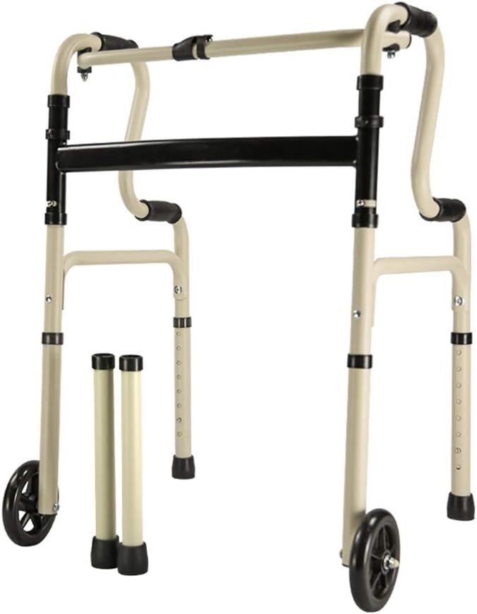 車輪付き高齢者用歩行器歩行器、折りたたみ式軽量移動補助具、調節可能な高さ積載量100kg