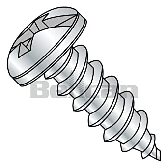 Bellcan BC-0824ACP Combination Pan Head Self Tapping Screw Type A Fully Threaded Zinc 8 X 1-1/2 (Box of 3000)