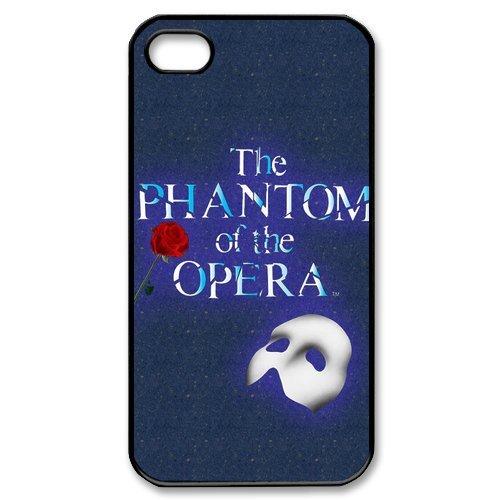 [Snap-on iphone 4 4S 4G Case -Musical Phantom of The Opera Custom Printed Back Case Protector -3] (Custom Phantom Of The Opera Costumes)