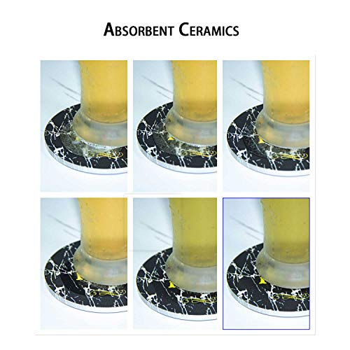 8 PCs Funny Ceramic Drink Coasters, Living Room Decor, Absorb Water, Gift for Housewarming Birthday House Decor, Conversation Starter, Humor Saying for Coffee Table Dining Room Decro