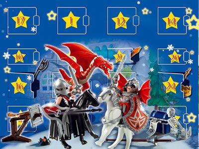 PLAYMOBIL® 4160 - Adventskalender Drachenland PLAYMOBIL® Aufstellspielzeug / Grundmodelle Aufstellspielzeug aus Kunststoff / Grundmodelle Saisonspielzeug / Nikolaus & Weihnachten