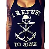 Best Anchor Shirts - Billila Women Boat Anchor Skull Printing Vest Sleeveless Review