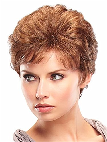 Women Wigs Auburn Short Curly Natural Heat Resistant Synthetic Hair Wigs 8