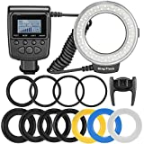 Photo : Neewer 48 Macro LED Ring Flash Bundle with LCD Display Power Control, Adapter Rings and Flash Diffusers for Canon 650D,600D,550D,70D,60D,5D Nikon D5000,D3000,D5100,D3100,D7000,D7100,D800,D800E,D60