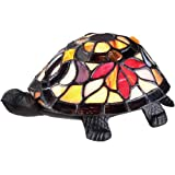 Quoizel TFX1519T Vintage Tiffany 1-Light Turtle Table Lamp