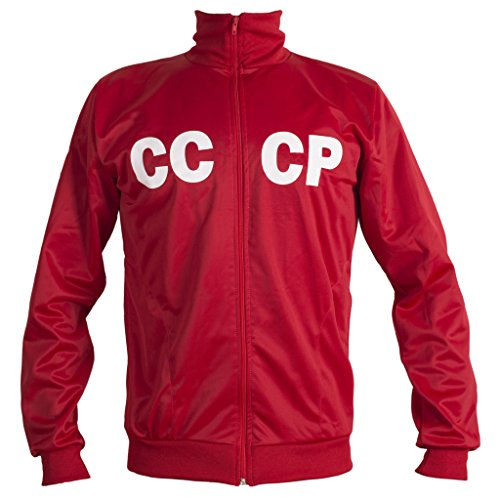 n CCCP USSR 1970's Retro Football Jacket Classic Vintage Tracksuit Man Top-Replica (Brazil Track Top)