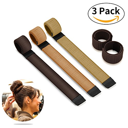 Bestidy 3 Stücke Women's Fashion Hair Styling Tool Donut Hair Bun Maker Frauen Twist Haar Don