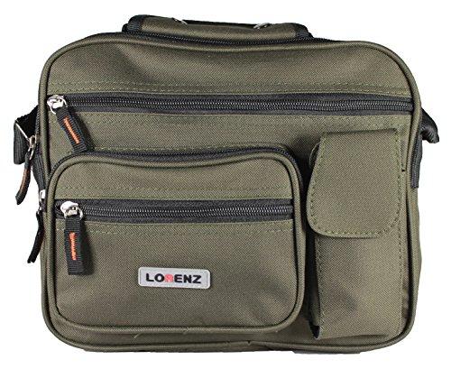 New tamaño grande para hombre Mujer Twin Top bolsa de cremallera trabajo viaje Cruz Cuerpo Bolso de hombro Verde - verde