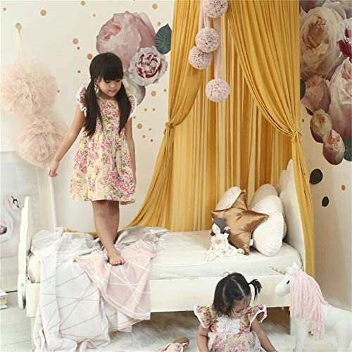 Bed /& Bedroom Decoration,Blue HUATAN Baby Indoor Outdoor Bed Canopy Children Bed Tent For Reading Room Nursery Decor King Size