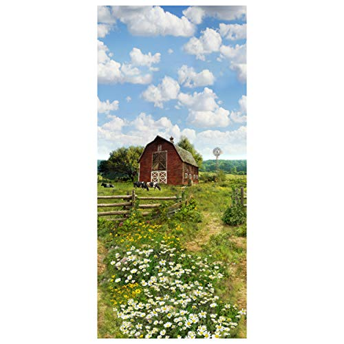 Shannon Hoffman Digital Minky Cuddle 29'' Panel Farm