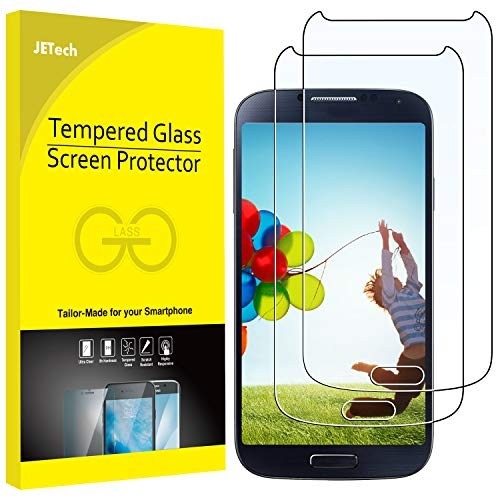 JETech 2-Pack Screen Protector for Samsung Galaxy S4, Tempered Glass Film (Best Screen Protector For Samsung Galaxy S4)