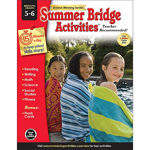 Summer Bridge Activities - Grades 5 - 6, Workbook for Summer Learning Loss, Math, Reading, Writing and More with Flash ()