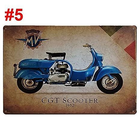 Amazon.com: 7.9 x 11.8 inch motos pintura de metal retro ...