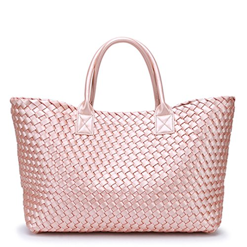 Pink Yinguang Woven Hand Capacity Trendy New Large Shoulder Handbag Winter Bag zZ1TYqwnvY