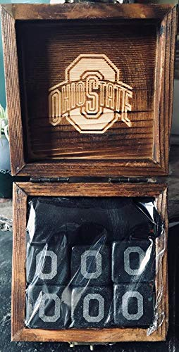 Ohio State Buckeyes Etched Wine and Whiskey Stones