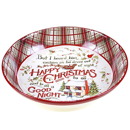Certified International The Night Before Christmas Serving/Pasta Bowl, 13.25