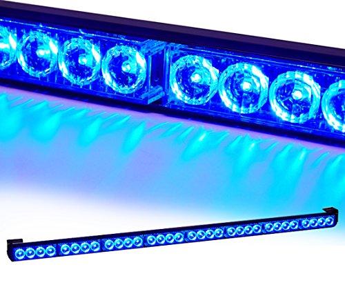 Red//Blue V-SEK 24 LED 27 Hazard Emergency Warning Tow Traffic Advisor Flash Strobe Directional Light Bar