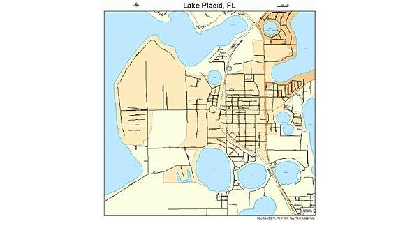 Lake Placid Florida Map.Amazon Com Image Trader Large Street Road Map Of Lake Placid