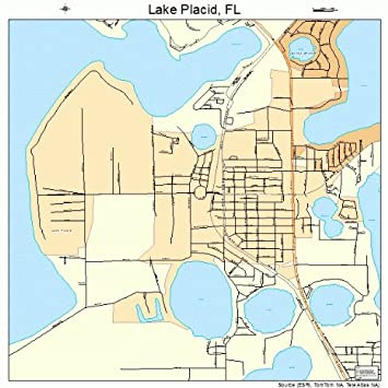 Amazon.com: Image Trader Large Street & Road Map of Lake Placid ...