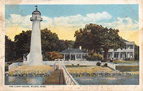 Biloxi Mississippi Light House Waterfront Antique Postcard K88653 (Mississippi Postcard)
