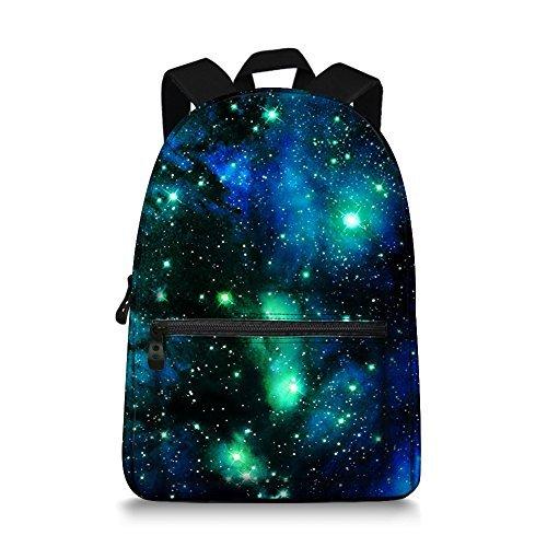 (Galaxy Space Print Durale Kids Canvas Bookbag Back to)