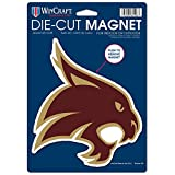 NCAA Texas State University Die Cut Logo Magnet, 6.25'' x 9''