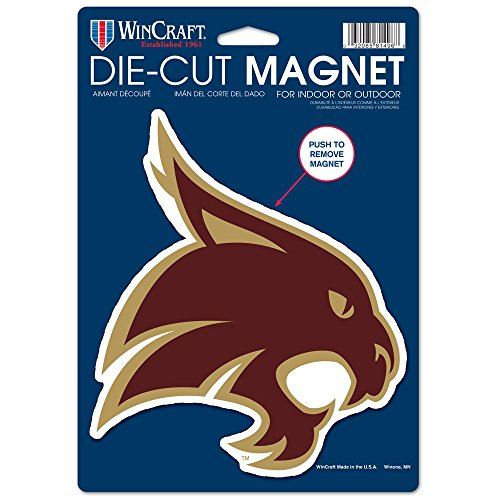 NCAA Texas State University Die Cut Logo Magnet, 6.25