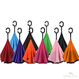 Inverted Umbrellas with Cover, Reverse Folding - Bulk Quantity of 20 - Variety pack - Wholesale