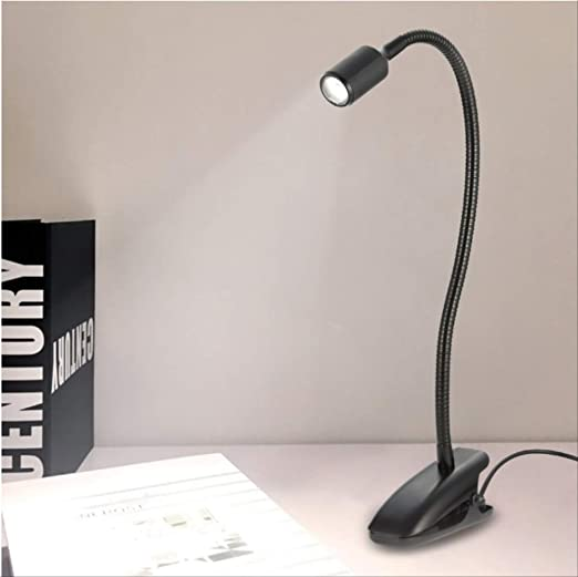 Lampe de table de bureau à LED rechargeable USB avec pince