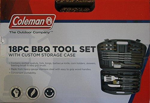 Coleman 18 Pc BBQ Tool Set with Custom Storage Case