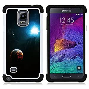 - Space Fire Planet Galaxy - - Doble capa caja de la armadura Defender FOR Samsung Galaxy Note 4 SM-N910 N910 RetroCandy