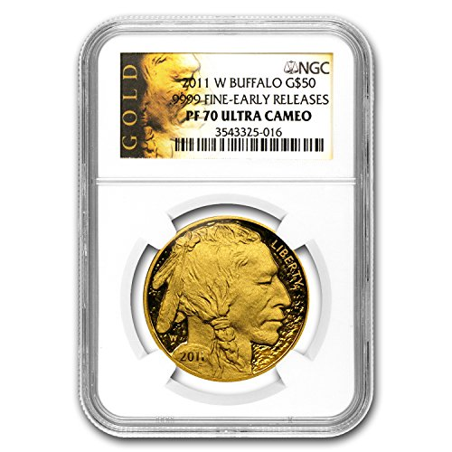 2011 W 1 oz Proof Gold Buffalo PF-70 NGC (ER) 1 OZ PF-70 NGC